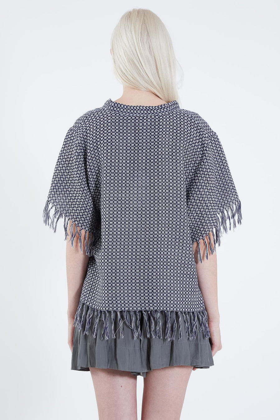AUDREY TOP NAVY CHECK