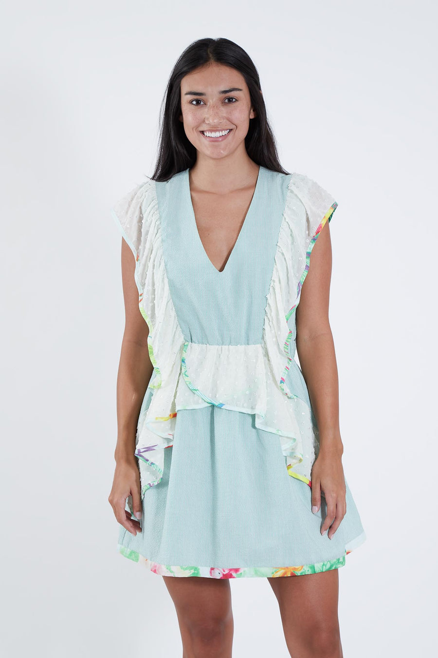 KIKI DRESS SAGE STRIPE