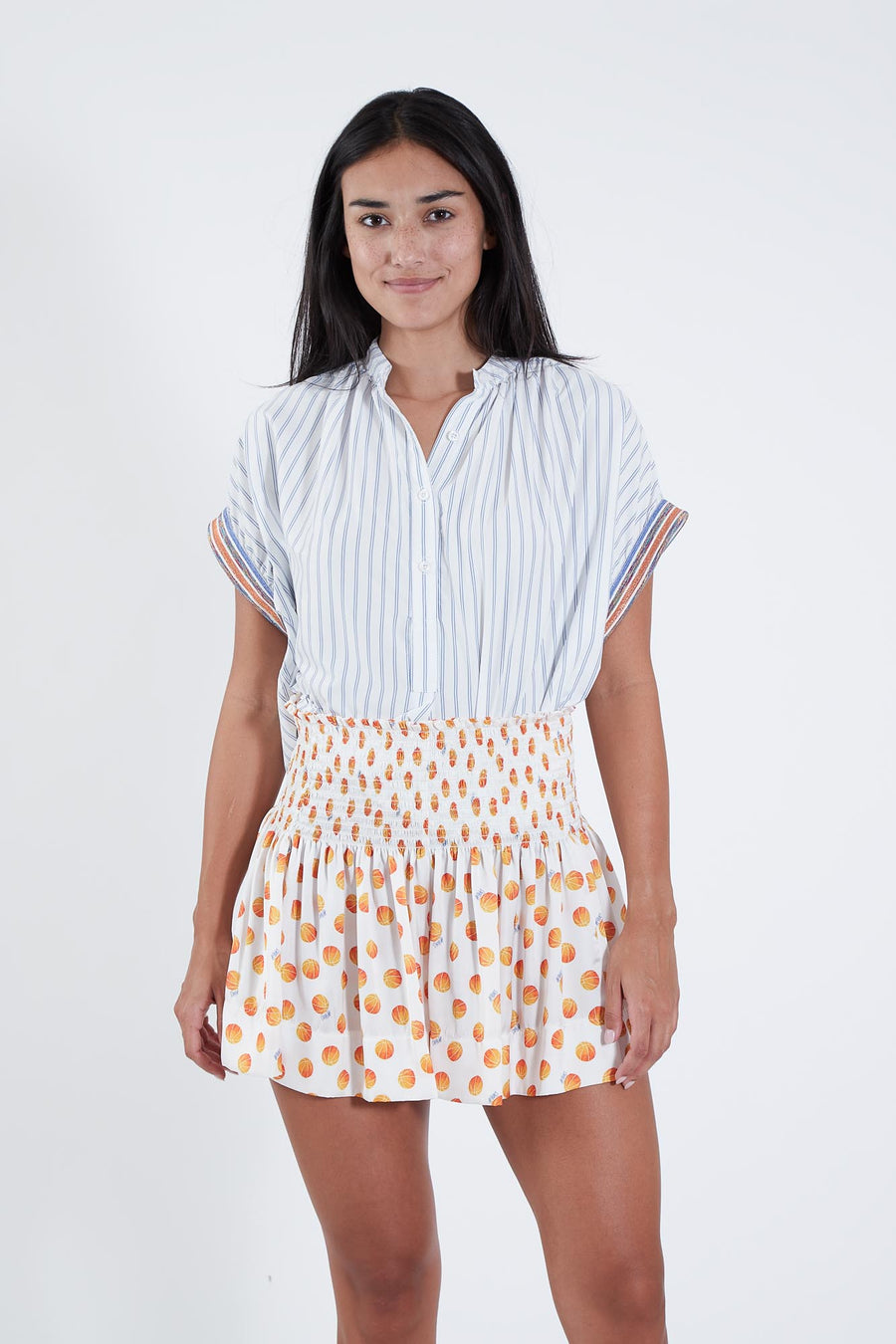 ERICA SKIRT BASKETBALL PRINT