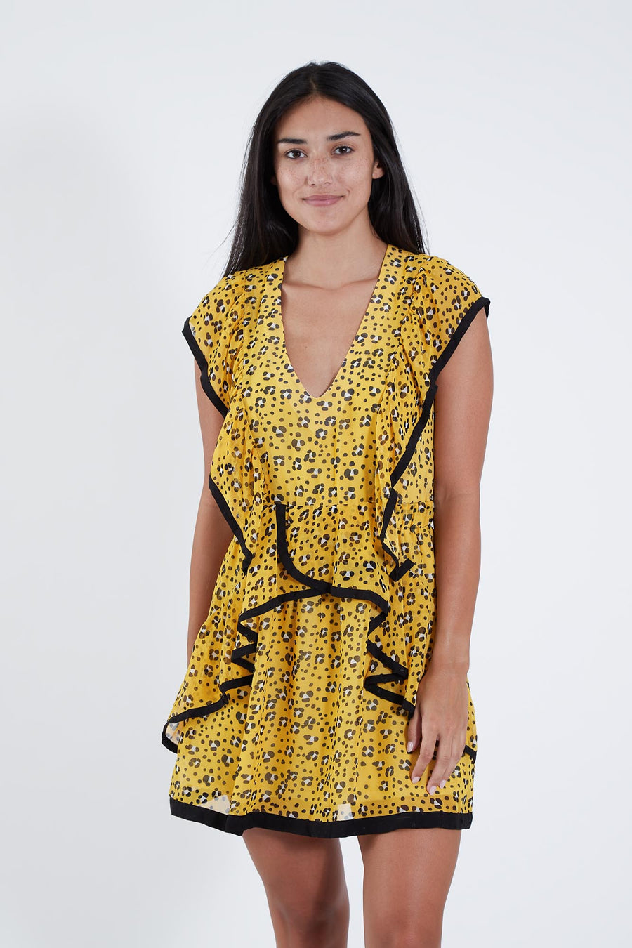 KIKI DRESS SUNFLOWER LEOPARD