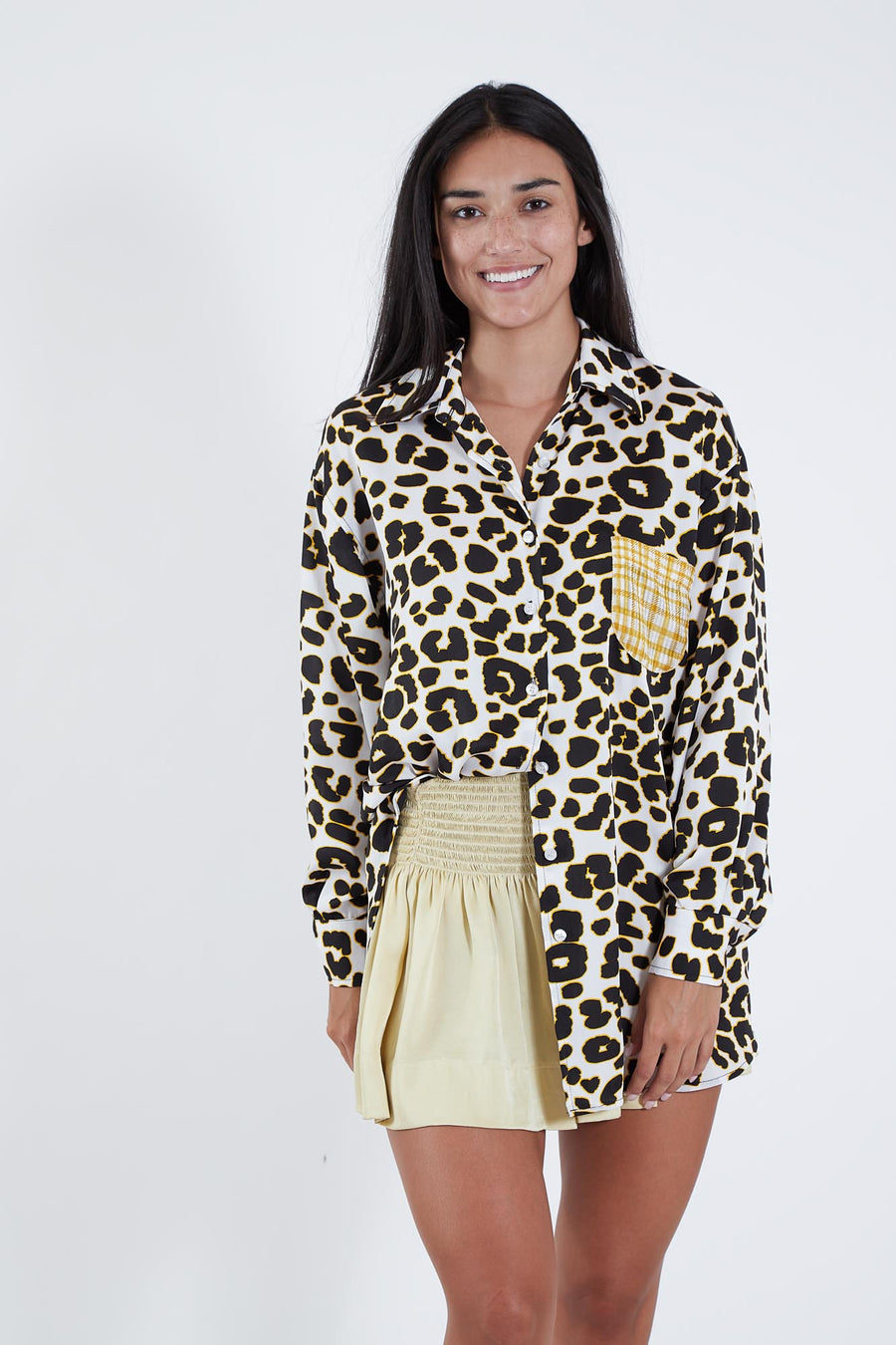 BRET TOP IVORY LEOPARD