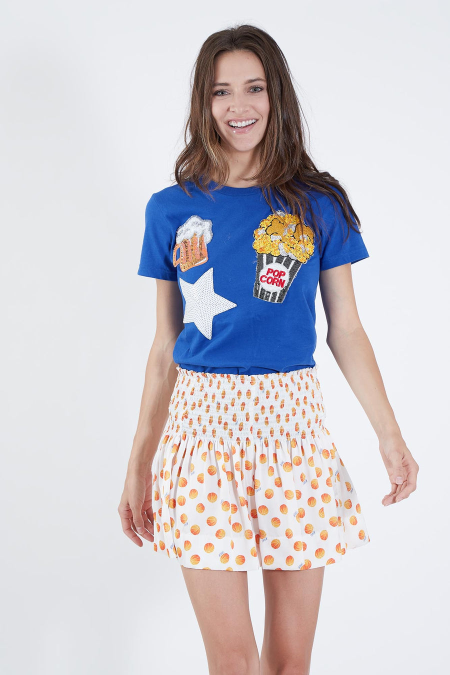 LUCY T-SHIRT BLUE PARTY