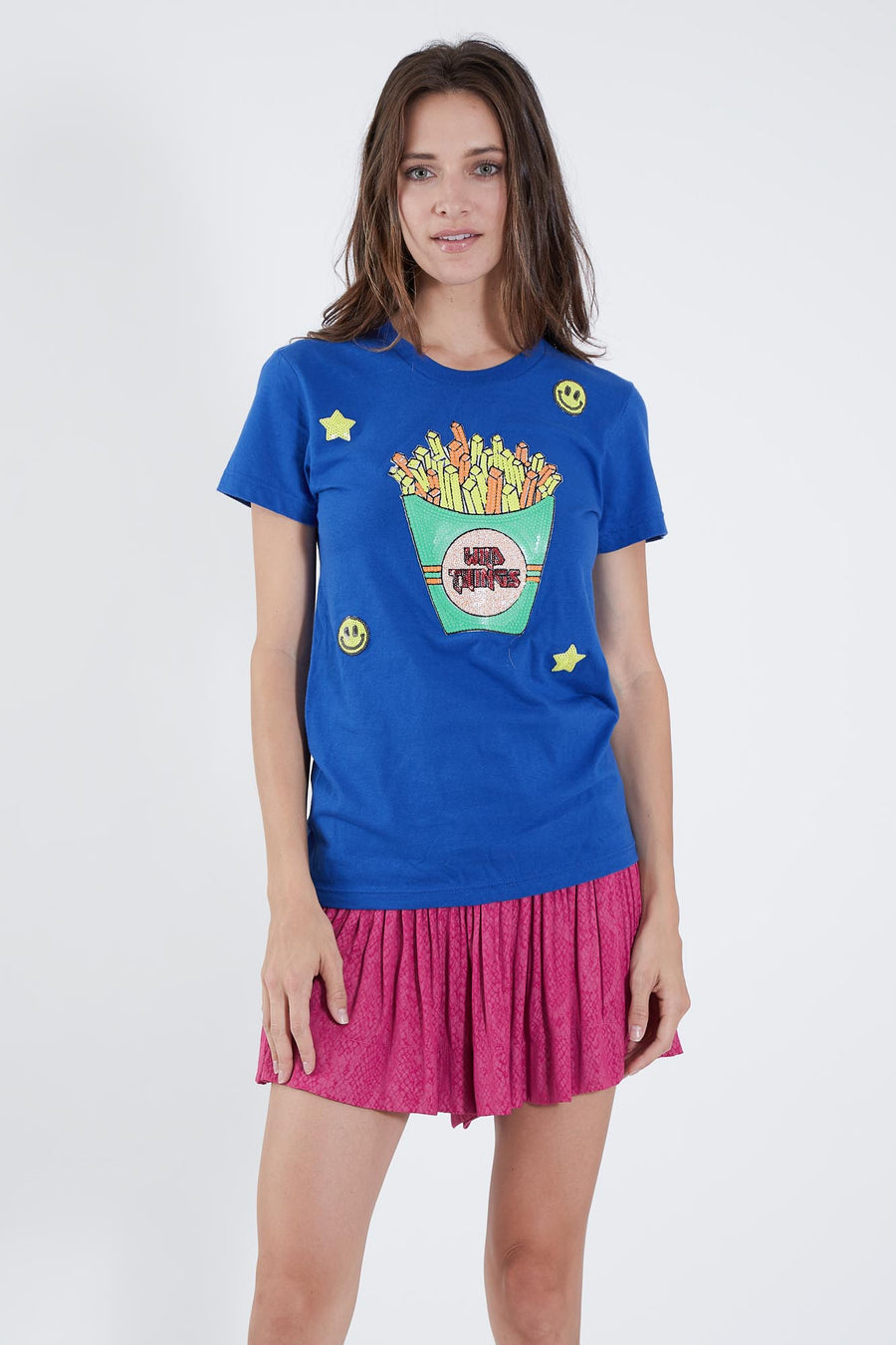 LUCY T-SHIRT BLUE WILD FRIES