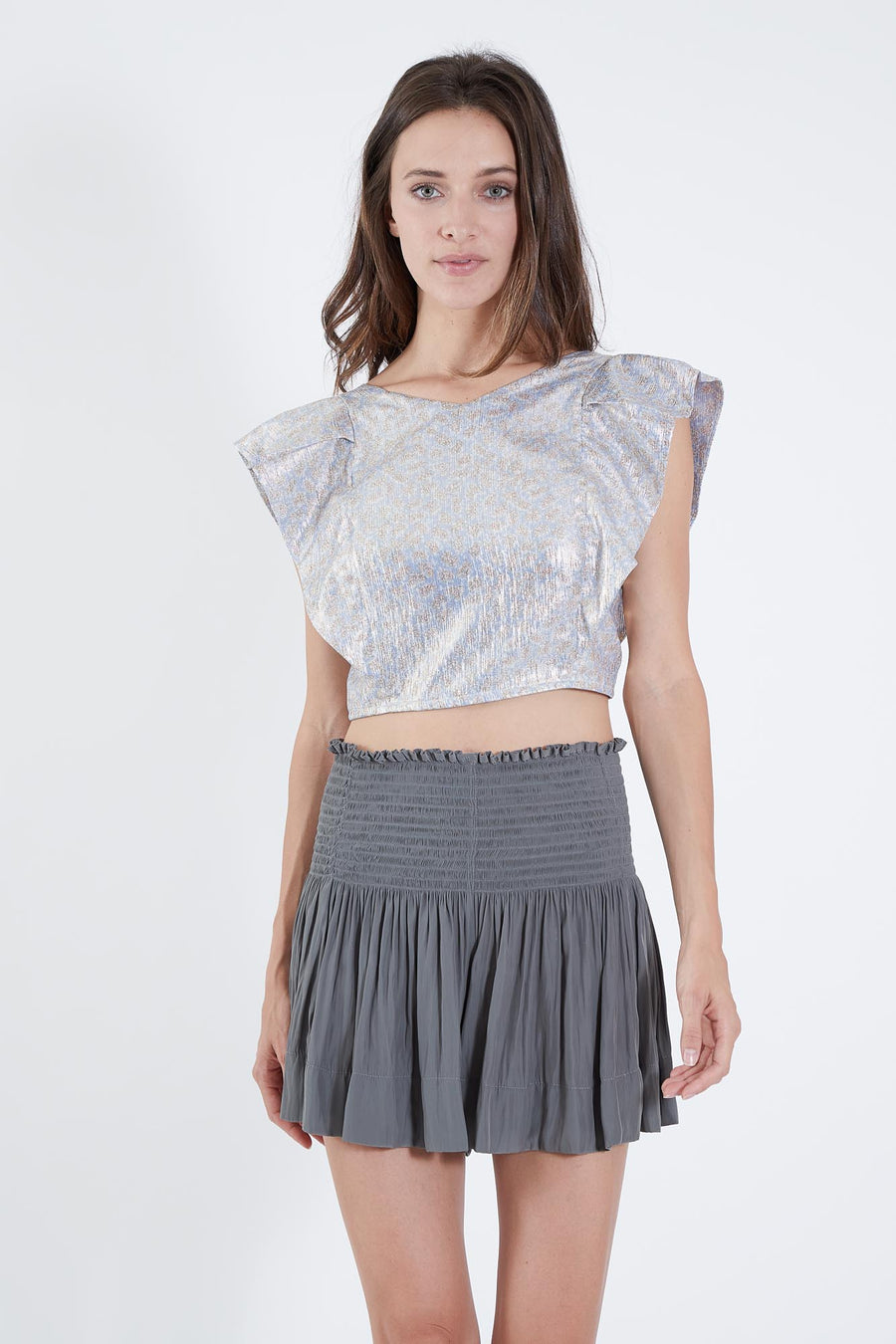 CECILIA TOP SKY METALLIC