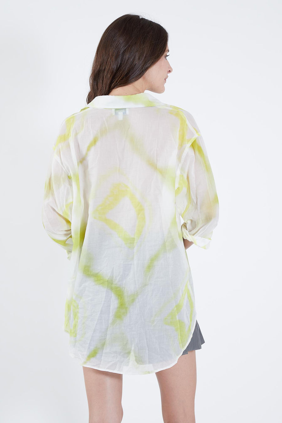 BRET TOP LIME TYE DYE