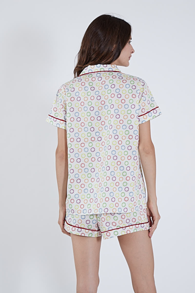 SHORT PAJAMA SET RAINBOW PEPPERMINTS
