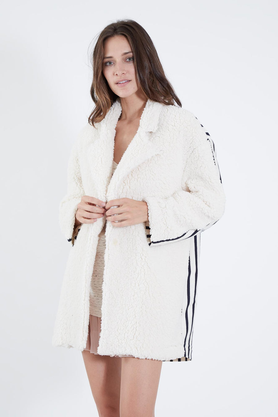 AGATHA COAT SHEEP & STRIPE