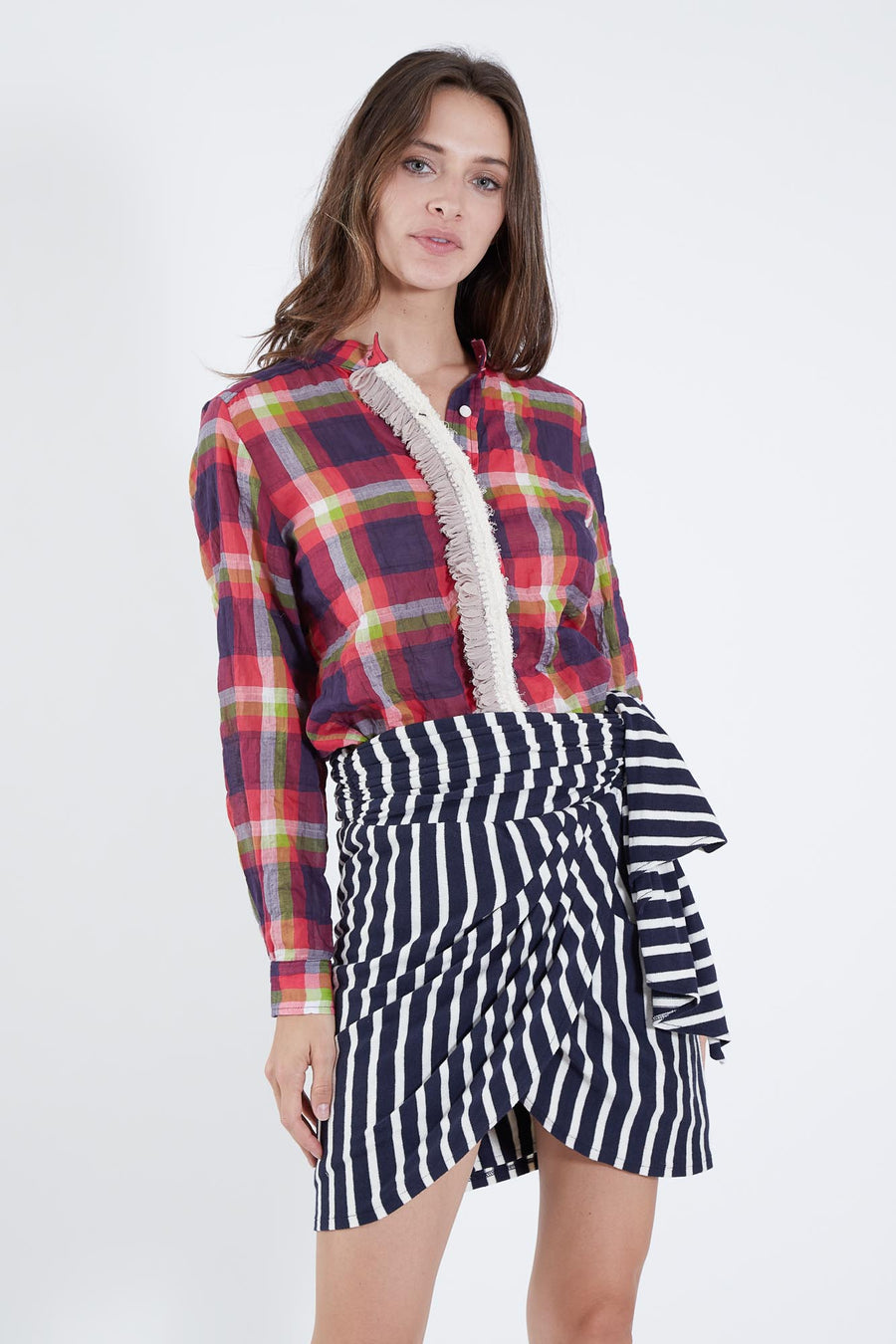 WYETH SKIRT NAVY FRENCH STRIPE