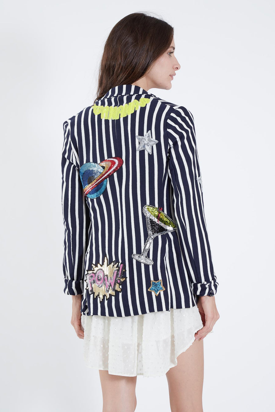 SCOTT JACKET NAVY FRENCH STRIPE