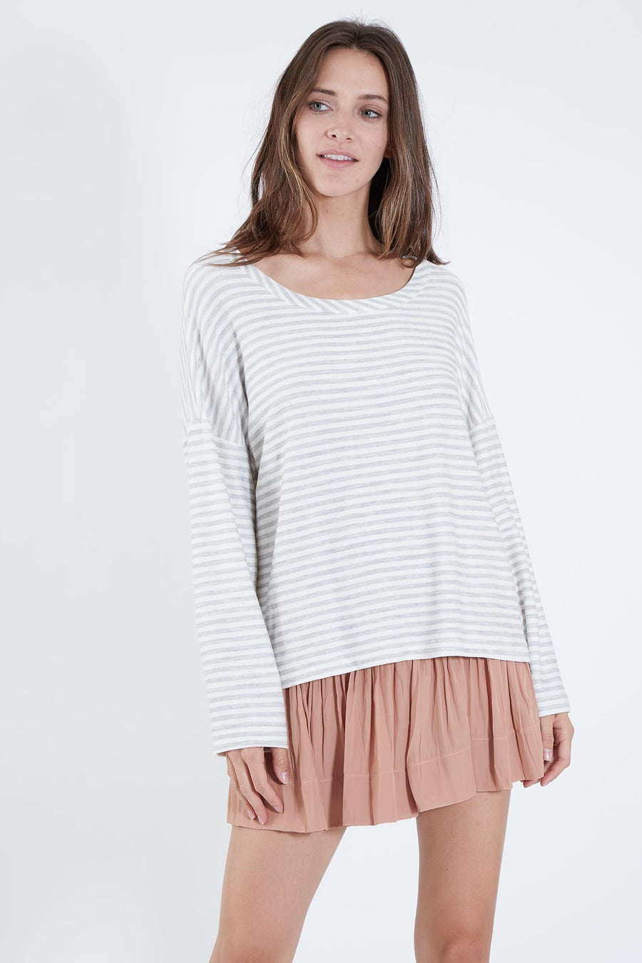 GODFREY TOP GREY STRIPE  *LIMITED*EDITION*