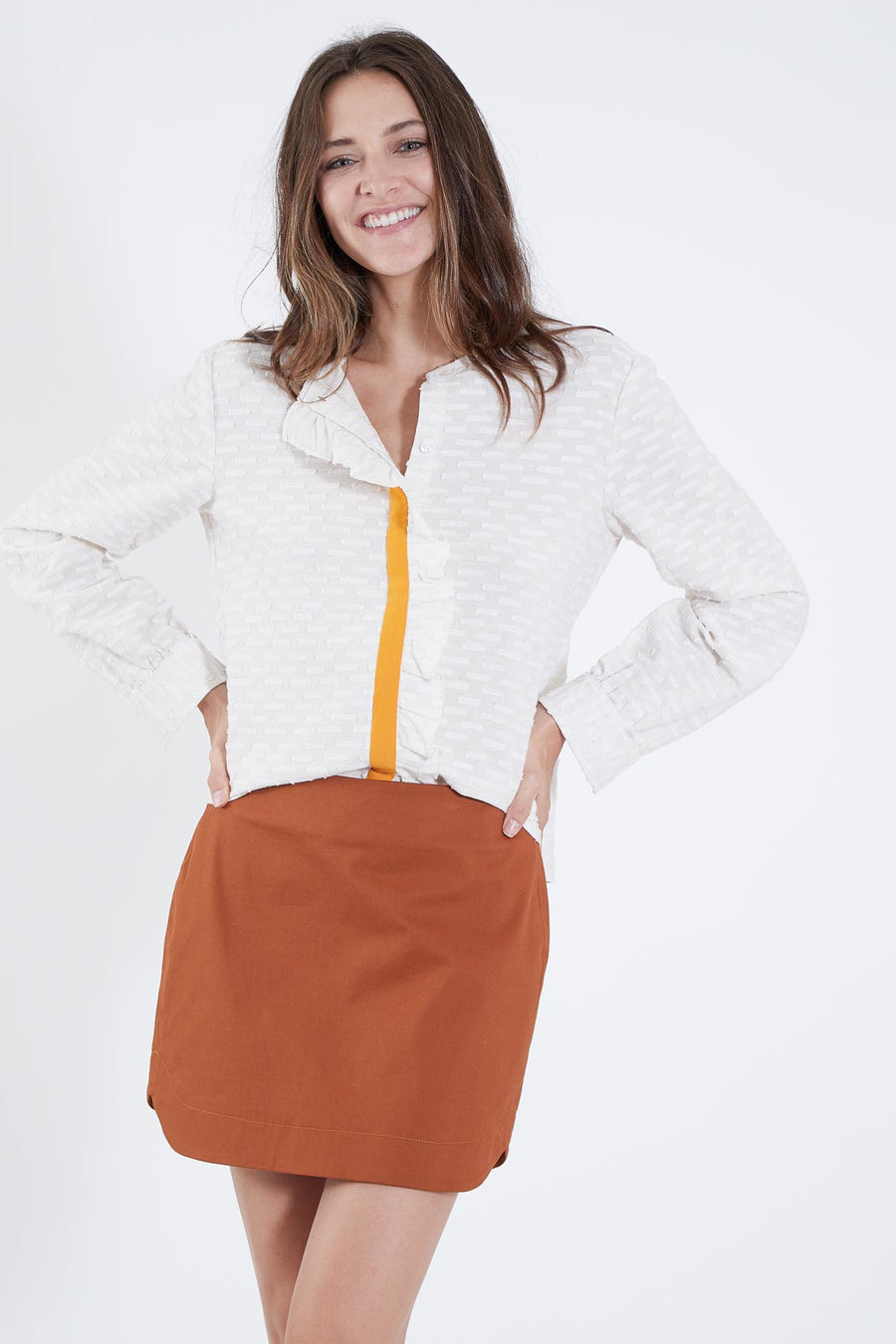 SUNNIE SKIRT - BURNT ORANGE