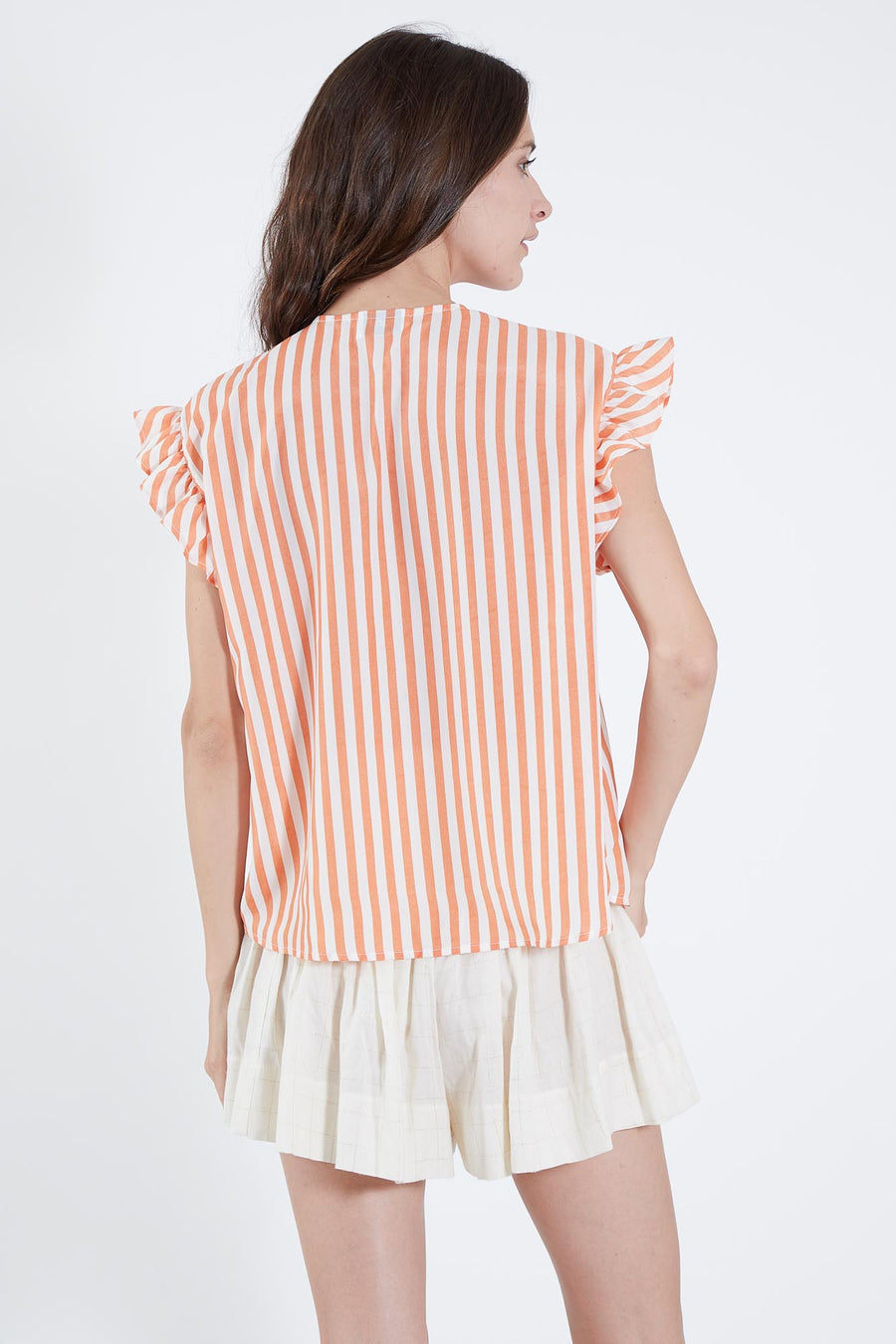 PALM TOP ORANGE AND WHITE STRIPE