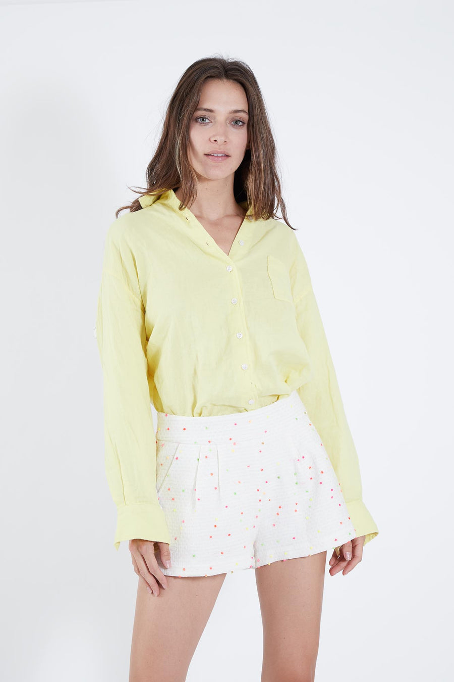 BRET TOP YELLOW COTTON  *LIMITED*EDITION*