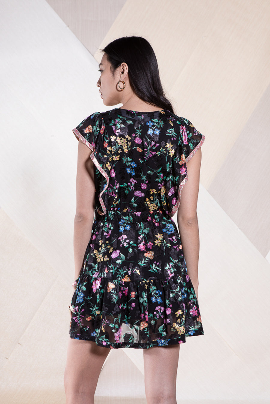 KIKI DRESS MIDNIGHT FLOWER