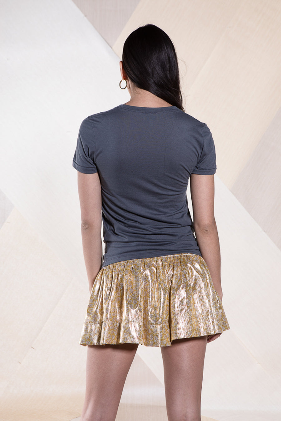 ERICA SKIRT GOLD METALLIC