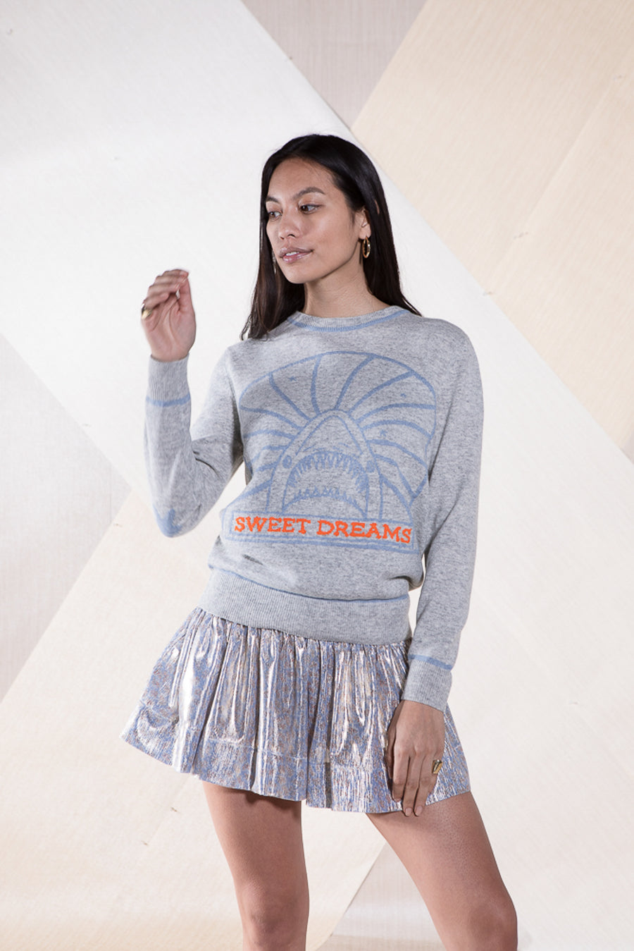 MAURICE SWEATER LIGHT GREY SWEET DREAMS