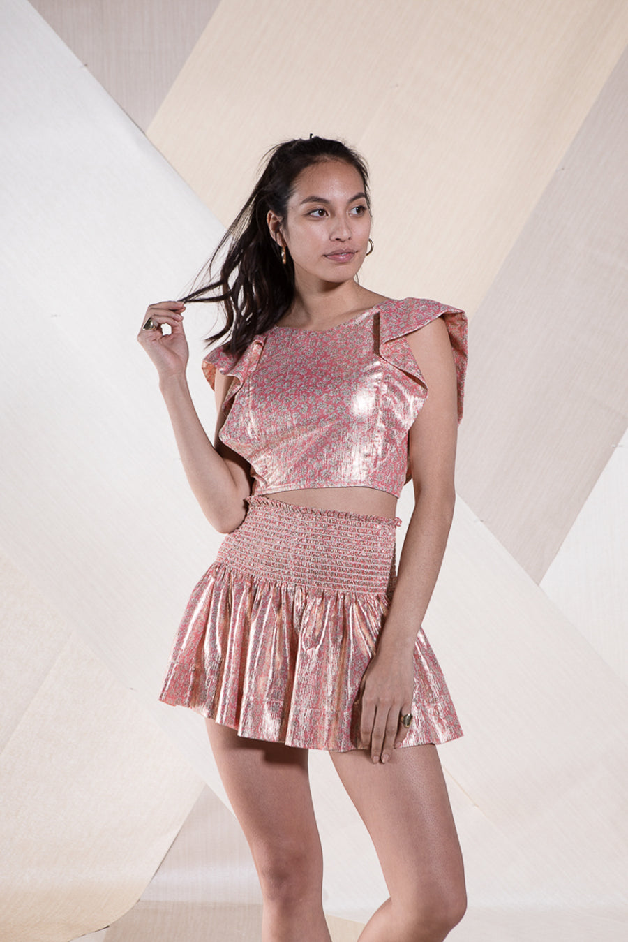 CECILIA TOP PINK METALLIC *LIMITED*EDITION*