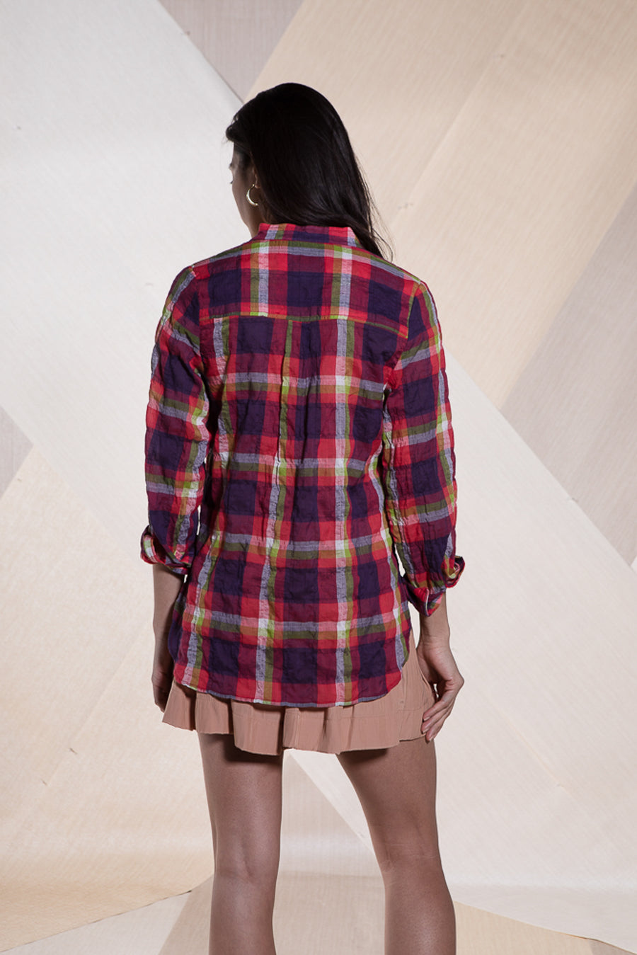 ISABELLA TOP COSMIC PLAID