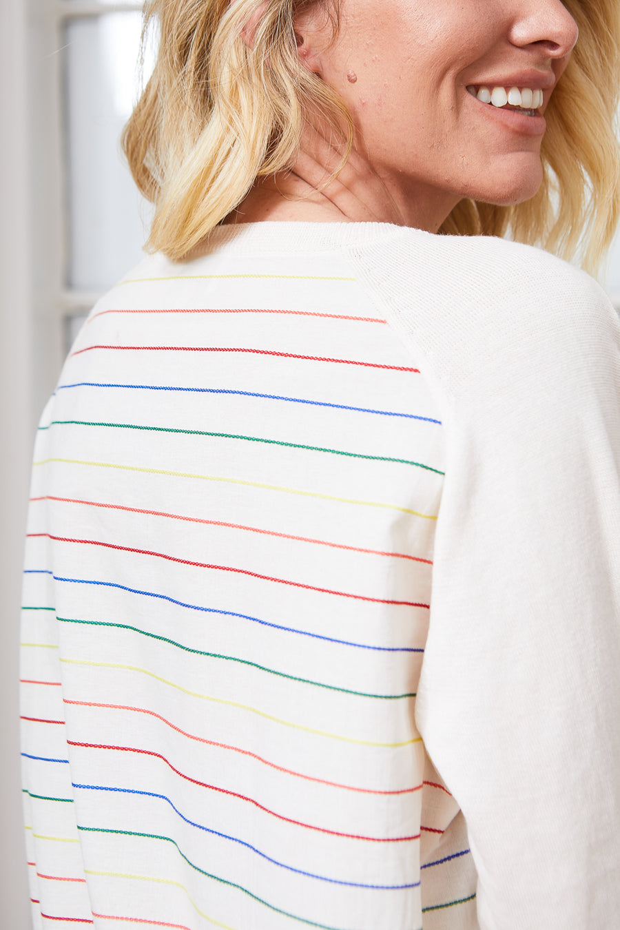 KARLA SWEATER IVORY RAINBOW