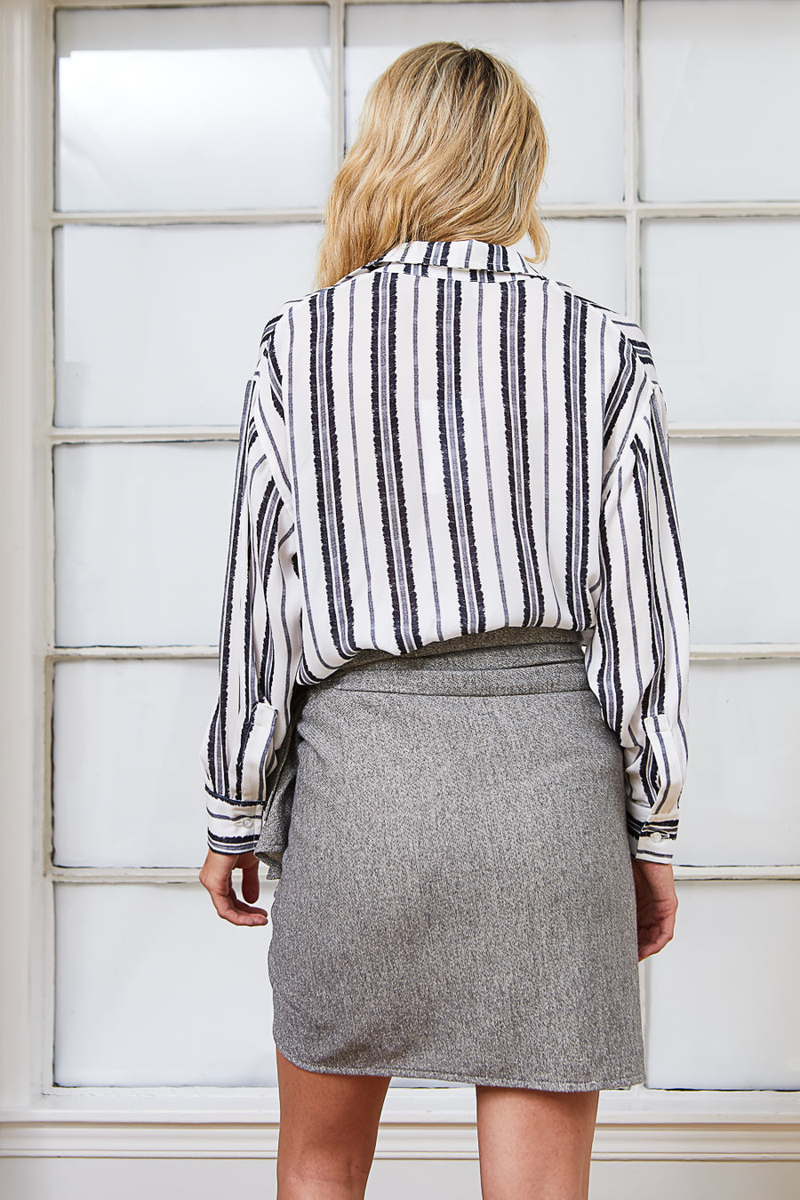 WYETH SKIRT DARK GREY