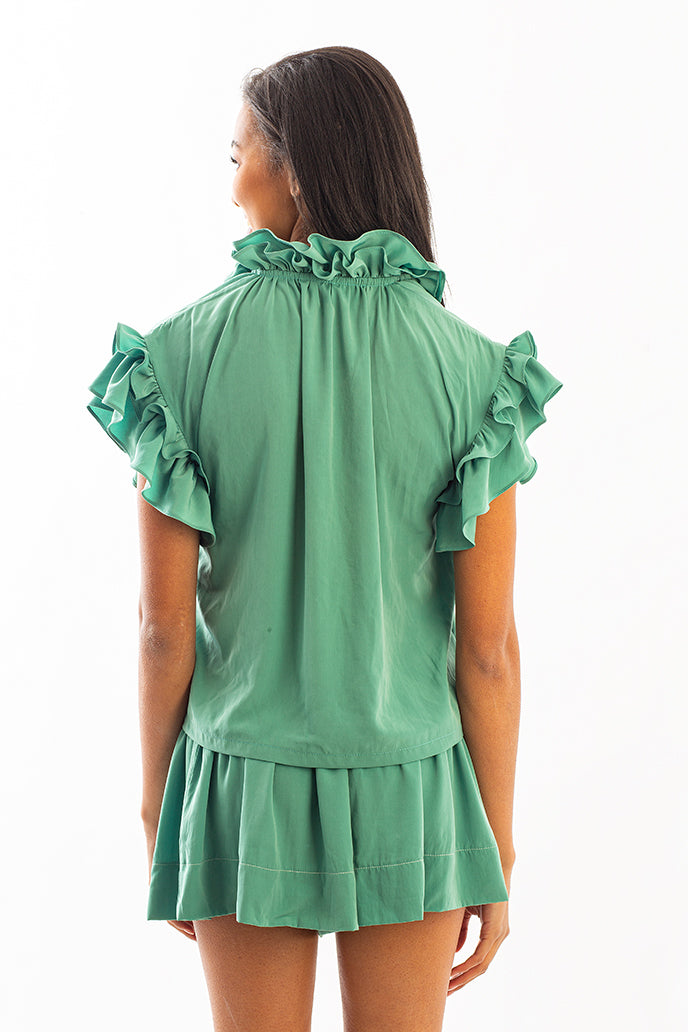 ERICA SKIRT EMERALD GREEN