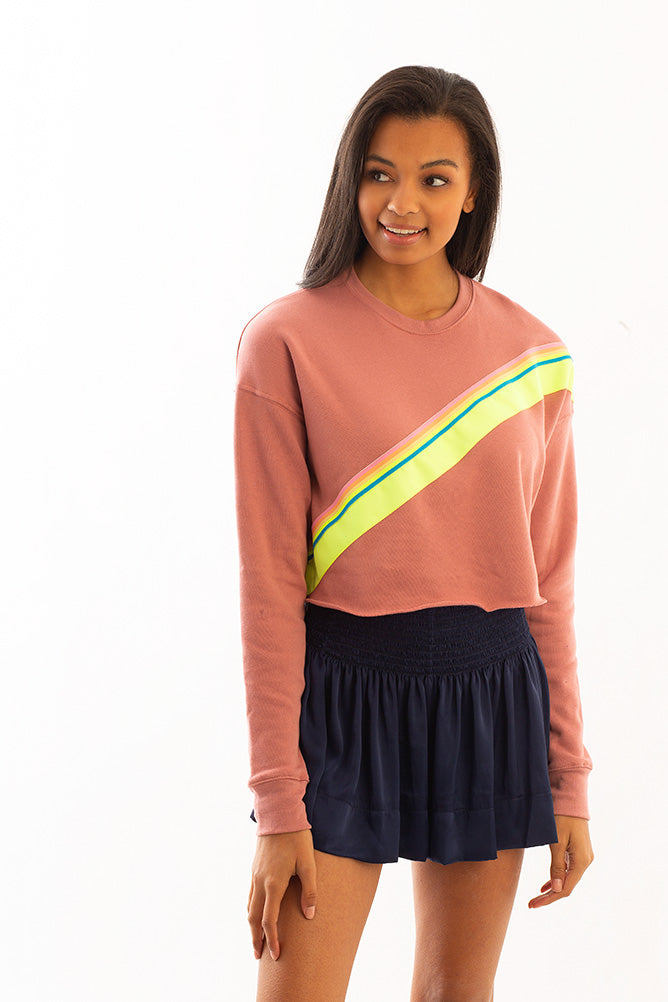 CROPPED SWEATSHIRT PINK W/ NEON TRIM *LIMITED*EDITION*