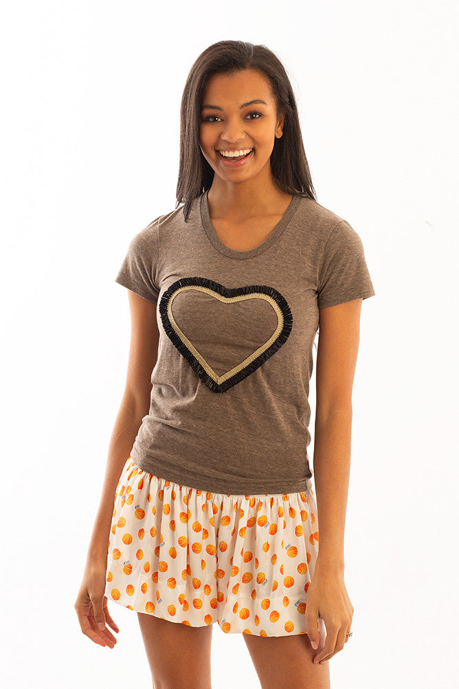 SCOUT T-SHIRT HEART W/ BLACK TRIM