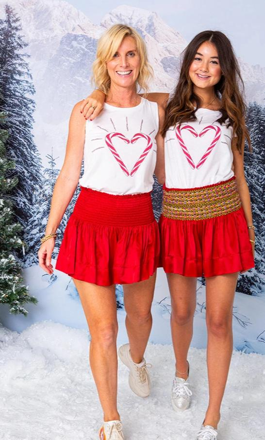 MARIE TEE CANDY CANE HEART