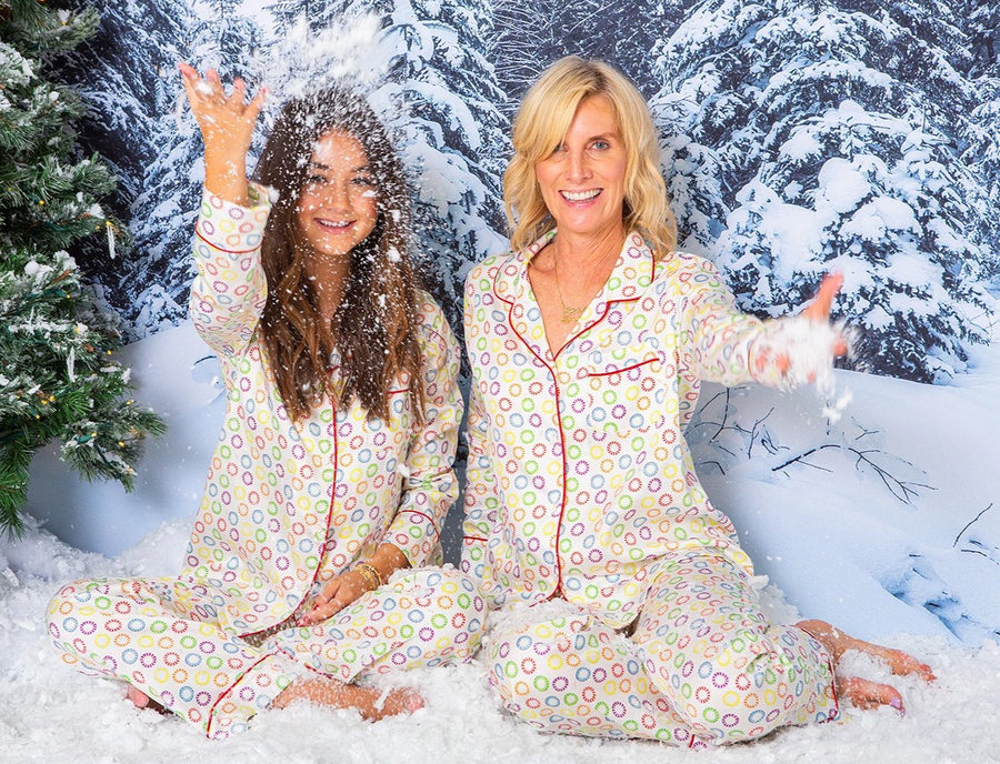 LONG PAJAMA SET RAINBOW PEPPERMINT