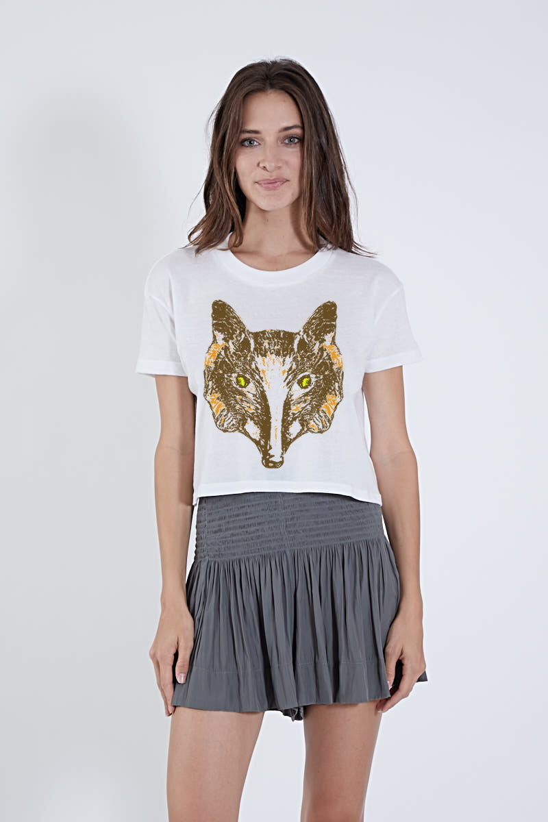 CROP TOP BROWN FOX