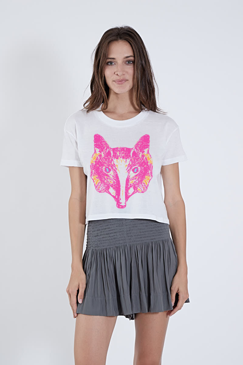 CROP TOP PINK ORANGE FOX *LIMITED*EDITION*