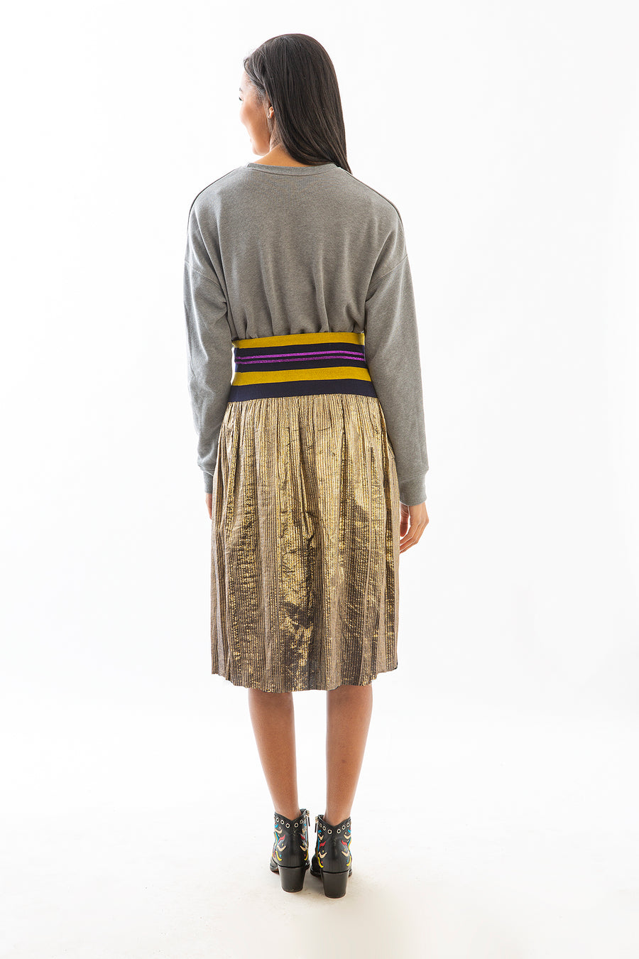 CARLISLE SKIRT GOLD METALLIC
