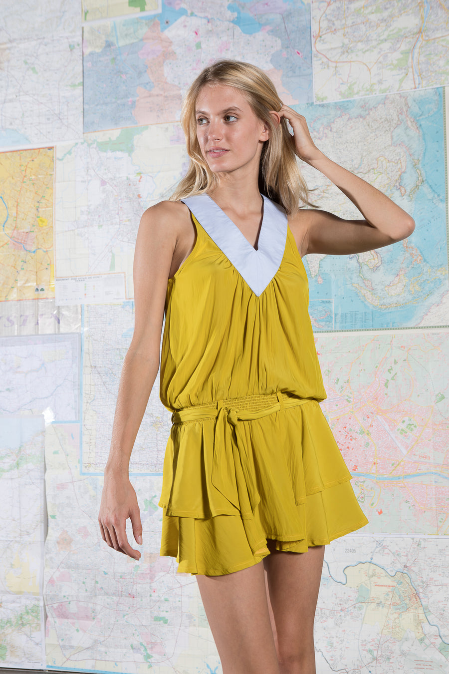 HALEY DRESS LEMON ZEST