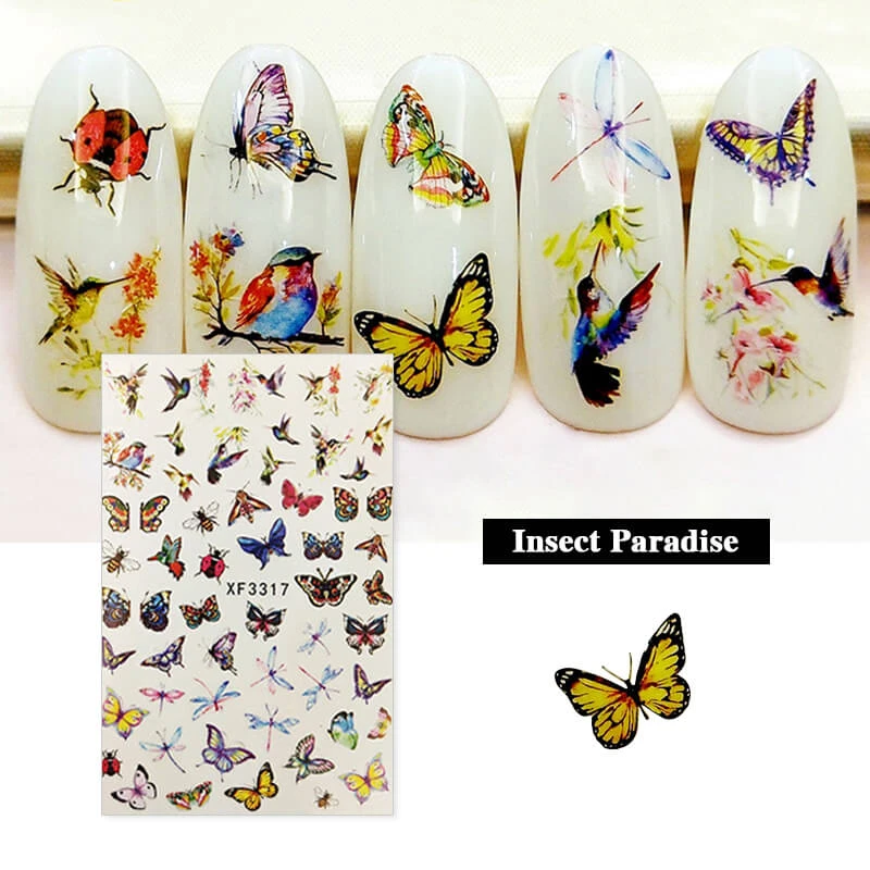 Eyeshinning Dream About Butterflies Nail Stickers