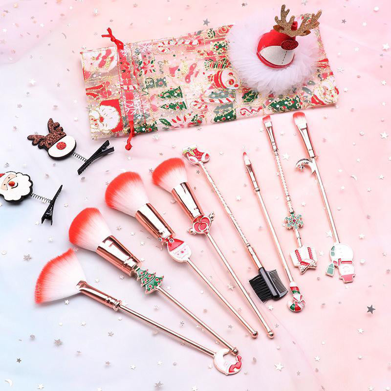 Eyeshinning Christmas Makeup Brushes Set