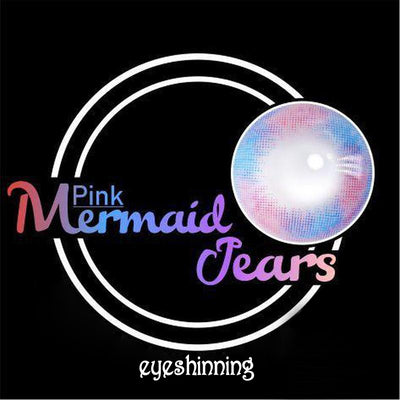 Eyeshinning Mermaid Tears Pink Colored Contact Lenses