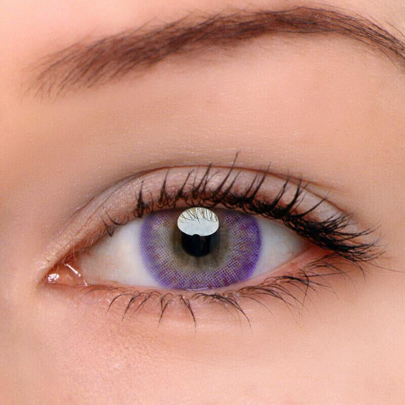 Eyeshinning Donut Purple Colored Contact Lenses