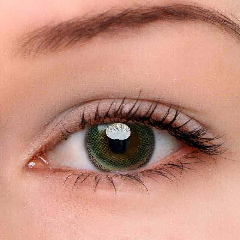 Eyeshinning Edge Yellow-Green Colored Contact Lenses