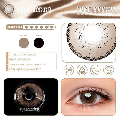 Eyeshinning Edge Brown Colored Contact Lenses