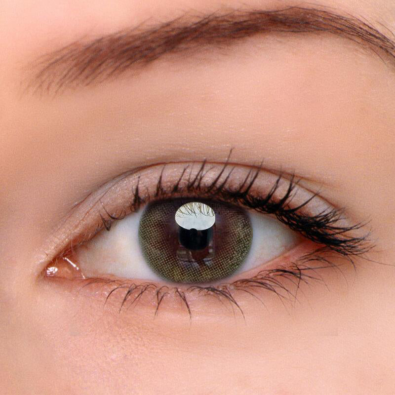 Eyeshinning Gentle Sunlight Green Colored Contact Lenses