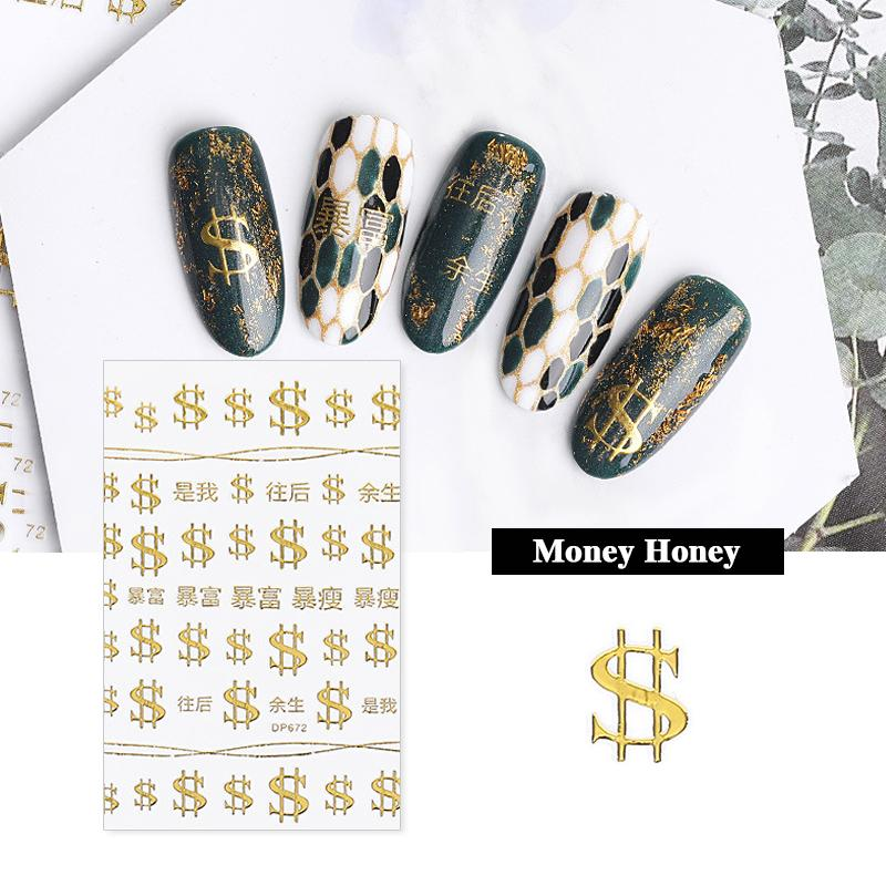 Eyeshinning Gold Leaf Nail Stickers