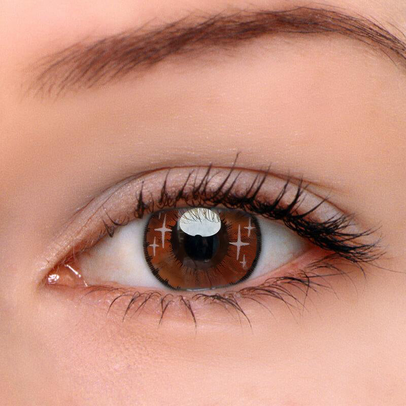 Eyeshinning Gradient Star Brown Colored Contact Lenses