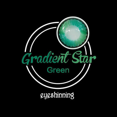 Eyeshinning Gradient Star Green Colored Contact Lenses
