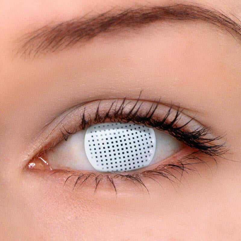 Eyeshinning Gridding White Colored Contact Lenses