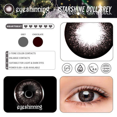 Eyeshinning Starshine Doll Grey Colored Contact Lenses