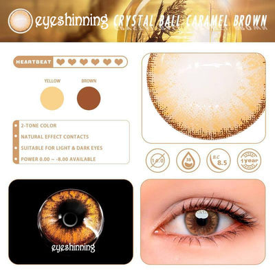 Eyeshinning Crystal Ball Caramel Brown Colored Contact Lenses