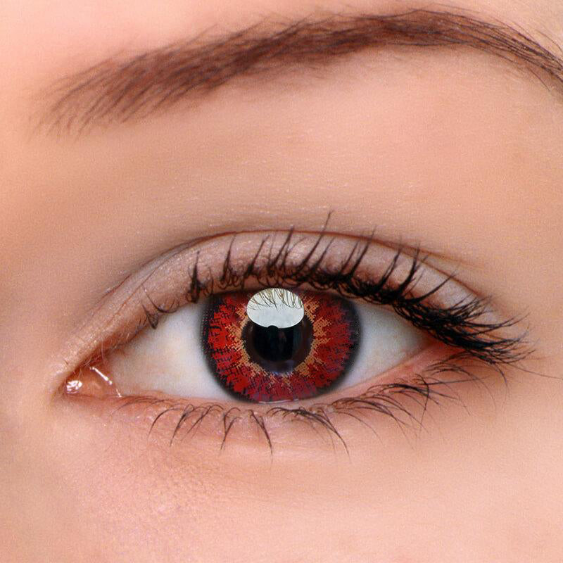 Eyeshinning Elf Red Colored Contact Lenses