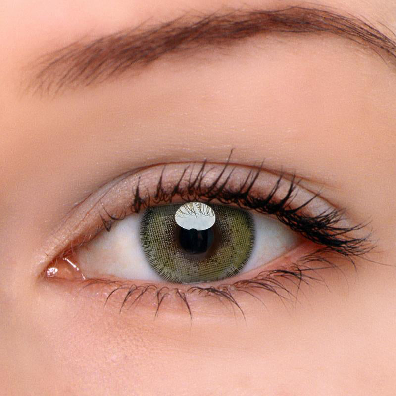 Eyeshinning Euramerican Brown-Green Colored Contact Lenses