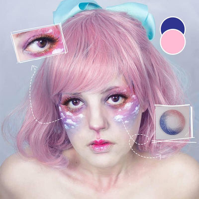 Eyeshinning Galaxy Pink Colored Contact Lenses