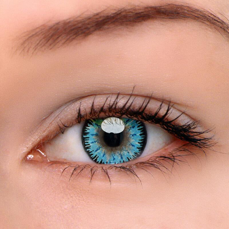 Eyeshinning Mystery Blue Colored Contact Lenses